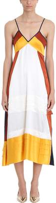 Tory Burch Sasha Colorblock Silk-satin Slip Dress