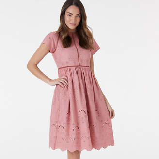 Everly NEW Havana Lace Dress - Dusty Rose Women's by Collective