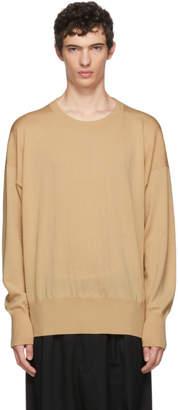 BEIGE Sulvam Wool Crewneck Sweater