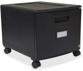 """Storex, STX61259B01C, 18"""" Single File Drawer, 1 Carton, Black"""