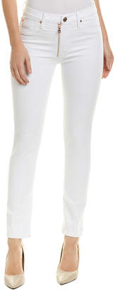 Hudson Barbara Optical White High-Rise Super Skinny Ankle Cut
