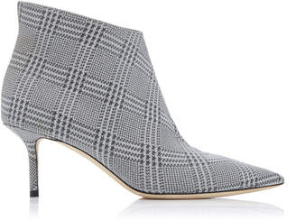 Jimmy Choo Marinda Glittered Plaid Leather Ankle Boots