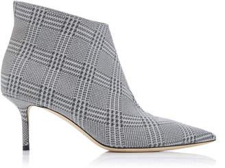 c729057971a4 Jimmy Choo Marinda Glittered Plaid Leather Ankle Boots