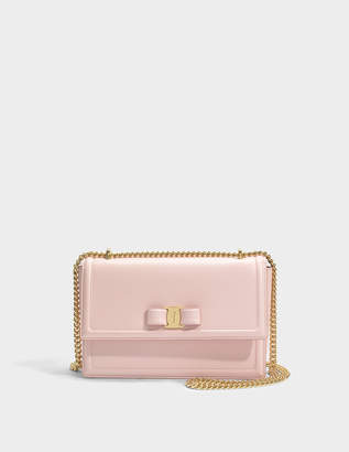 Salvatore Ferragamo Ginny Bag in Light Pink Score Leather