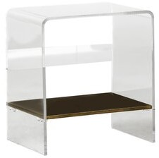 Gabby Sloan Lucite Waterfall End Table Gabby