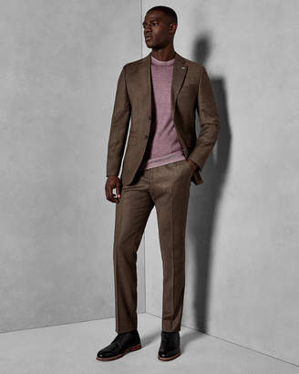 Ted Baker TUMENT Global slim flannel suit trousers