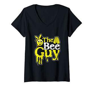 Womens The Bee Guy Beekeeper Honey Bees Beekeeping Apiarist Gift V-Neck T-Shirt