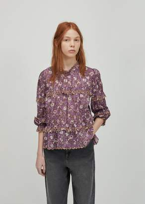 Etoile Isabel Marant Moxley Embroidered Top Violet