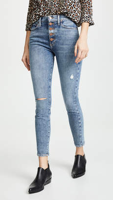 740106984b93a Alice + Olivia JEANS Good High Rise Exposed Button Jeans
