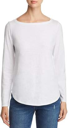 Eileen Fisher Organic Cotton Boatneck Tee