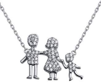 Cosanuova - Sterling Silver Family Pendant One Boy Necklace