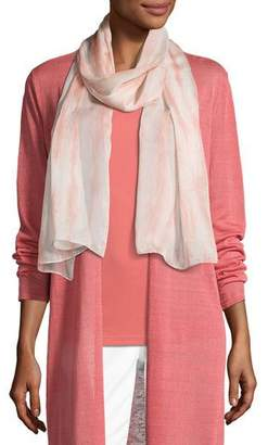 Eileen Fisher Sheer Silk Shibori Scarf, Coral