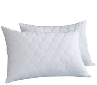 Peace Nest White Quilted Feather & Down Pillow, Standard Size - Set of Two