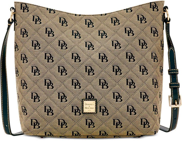 Dooney & Bourke Signature Quilted Hobo Crossbody, Created for Macy's - MULTI BLACK - STYLE