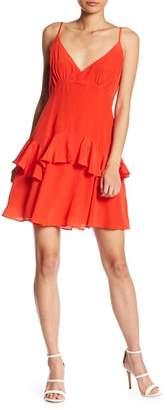 KENDALL + KYLIE Kendall & Kylie Silk Ruffle Slip Dress