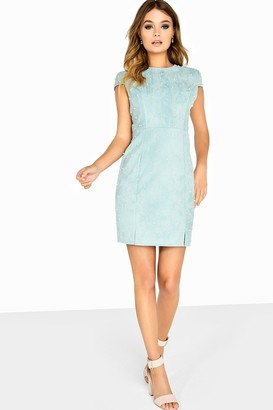 Girls On Film Outlet Pearl Suede Bodycon