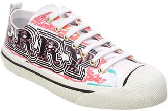 Burberry Doodle Print Cotton Low Top Sneaker