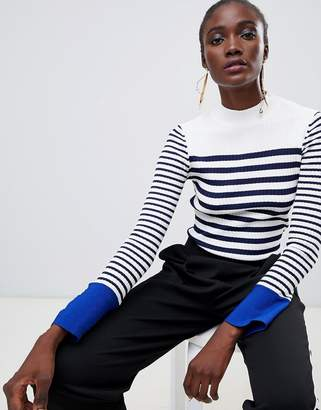 Finery Fairbridge breton stripe sweater