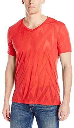 GUESS Men's Zig Zag V-Neck T-Shirt