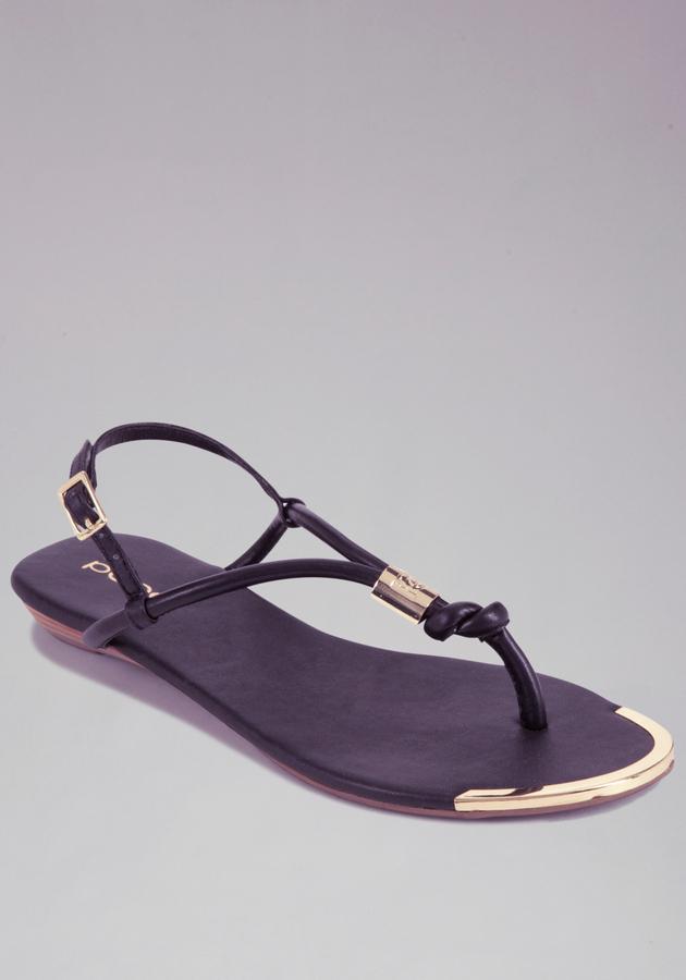 Bebe Arina Metal Cylinder Flat Sandal