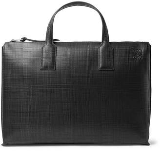 Loewe Embossed Leather Briefcase