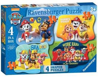 Ravensburger Girls Paw Patrol 4 Shaped Jigsaw Puzzles