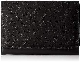 Aries [アリエス] 日本製印二つ折り財布 L字ファスナー小銭入れ付 1211-92 BK/BK 黒×黒とんぼ