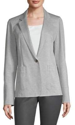 Lafayette 148 New York Women's Bridget Knit Blazer - Pale Grey - Size 10