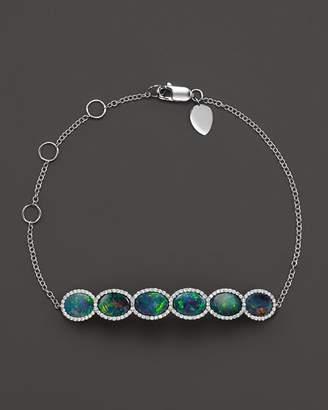 Meira T 14K White Gold 6 Stone Opal Bracelet