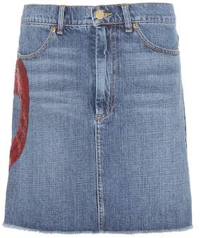 Marc Jacobs Embellished denim skirt