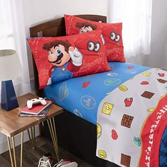 Nintendo Super Mario Odyssey Kids Bedding Soft Microfiber Sheet Set