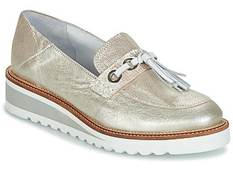 Regard RALARU women's Loafers / Casual Shoes in Gold