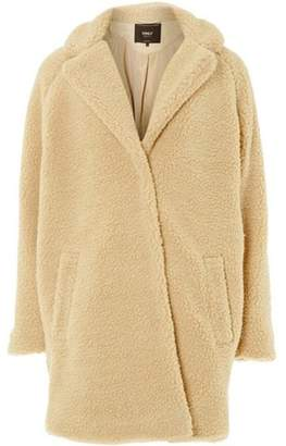Dorothy Perkins Womens **Only Cream Sherling Teddy Coat