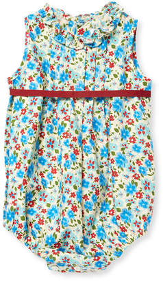 Elephantito Floral Pleated Romper