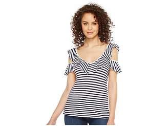 Splendid Ruffle Stripe Tee Women's T Shirt
