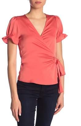 Ro & De Short Sleeve Wrap Blouse
