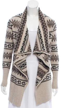 Alice + Olivia Wool-Blend Open Front Cardigan