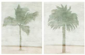Pottery Barn Textured Palm Canvas Print