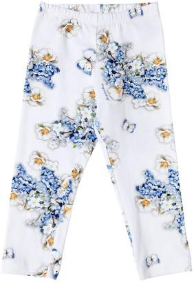 MonnaLisa Floral Printed Cotton Jersey Leggings