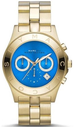 Marc Jacobs Marc by Blade Gold-Tone Chronograph Ladies Watch MBM3307