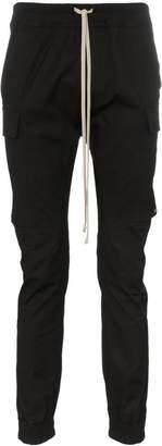 Rick Owens drawstring flap pocket cotton blend cargo trousers
