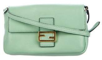 Fendi Leather Micro Baguette