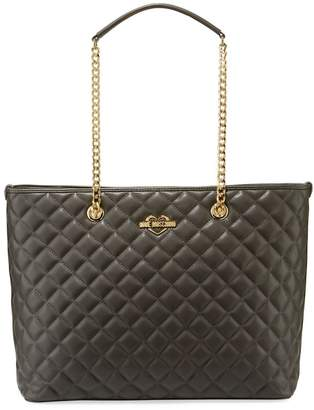 Love Moschino Quilted Chain Shoulder Tote Bag