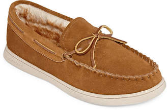 Rockport Suede Bow Moccasin Slippers