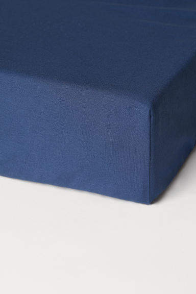 H&M - Fitted Cotton Sheet - Blue