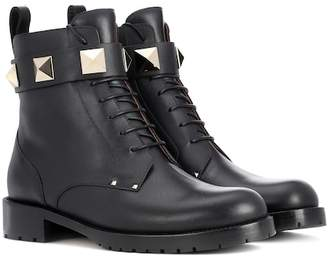 Valentino leather ankle boots