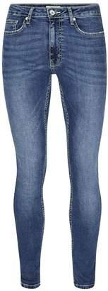 Topman Light Wash Blue Spray On Skinny Jeans
