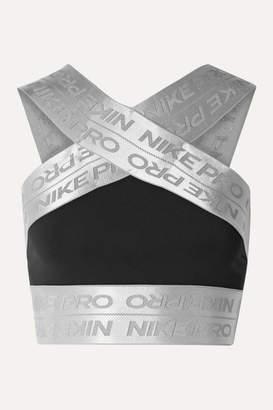 Nike Pro Cropped Dri-fit Top - Black