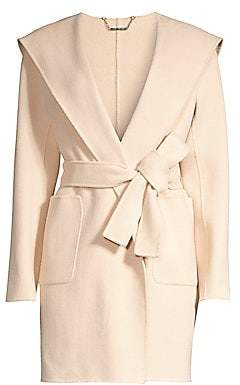 Elie Tahari Women's Shea Shawl-Collar Wool Nylon Coat