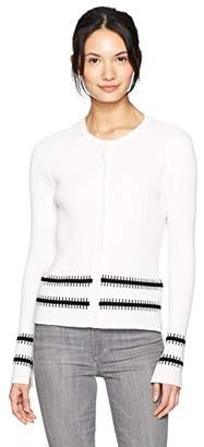 Armani Exchange A|X Women's Long Sleeve Button Up Ribbed Cardigan